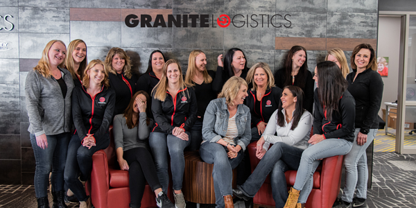 Granite Logistics women posing for photo